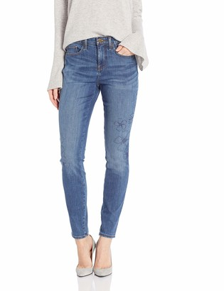 NYDJ Women's AMI Skinny Jean with Floral Embroidery