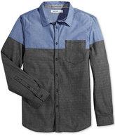 William Rast Men's Aston Colorblock Shirt