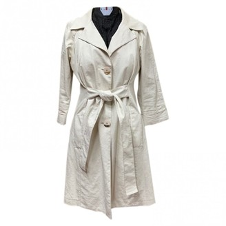 Elisabetta Franchi Beige Linen Trench Coat for Women
