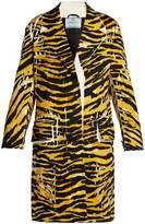Prada Tiger-print Misty-patch coat