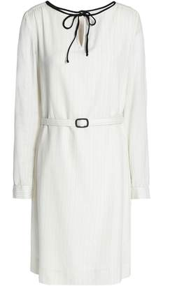 A.P.C. Belted Metallic Printed Cotton Dress