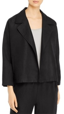 Eileen Fisher Organic Open-Front Jacket