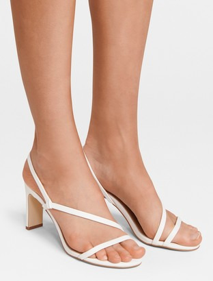 Forever New Amy Strappy Mid-Block Heel - White - 41