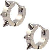 Victoria Spike Huggie Hoop Earrings, 316L Stainless Steel Hoops