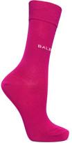 Balenciaga Intarsia Cotton-blend Socks - Pink