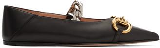 Gucci Black Horsebit Ballet Flats