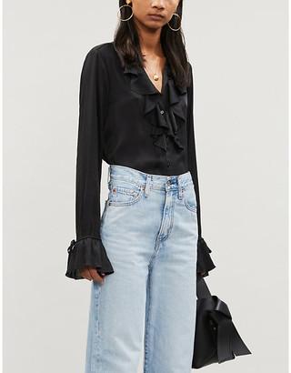 Paige Nevynne satin-crepe blouse