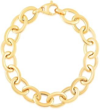 Sphera Milano 14K Yellow Gold Plated Sterling Silver Rolo Link Bracelet