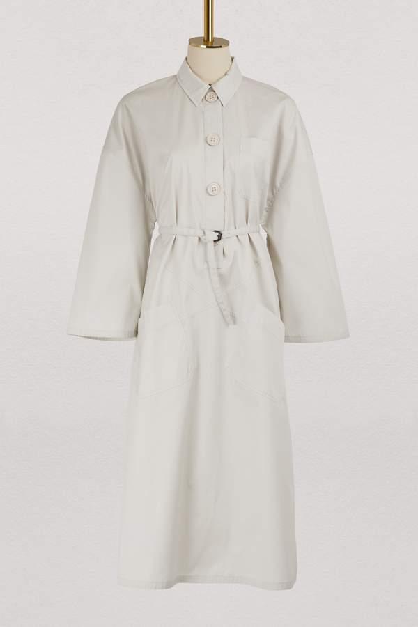 Bottega Veneta Midi dress with a belt
