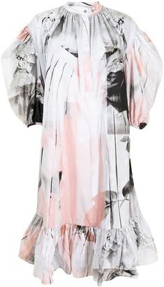 Alexander McQueen Trompe-L'il-Effect Poplin Midi Dress