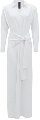 Norma Kamali Tie-waist Shirt Dress - Womens - White