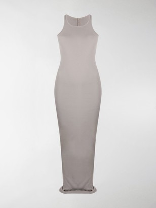 Rick Owens Ribbed Cotton Maxi Dress