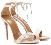 Aquazzura Dasha 105 Velvet Sandals