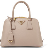 Prada Promenade Textured-leather Tote - Blush