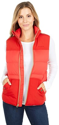 Filson Featherweight Down Vest (Bright Red) Women's Clothing