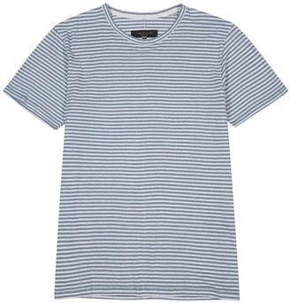 Rag & Bone Blue striped linen-blend T-shirt