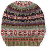 Ralph Lauren Slouchy Geometric Hat