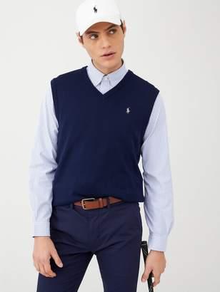Polo Ralph Lauren Golf V Neck Sleeveless Knitted Jumper - Navy