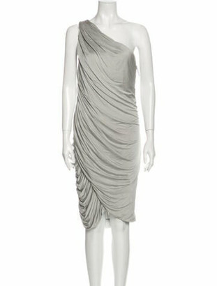 J. Mendel One-Shoulder Knee-Length Dress Grey