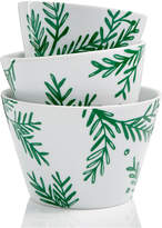 The Cellar Sprigs & Sentiments Set of 3 Nesting Snack Bowls, Created for Macy's