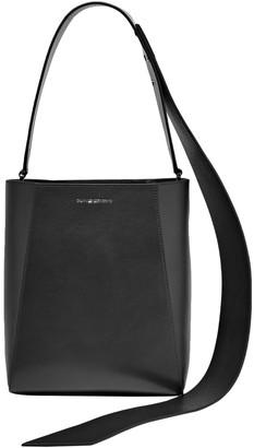 Calvin Klein Buck Stripe Suede-paneled Leather Shoulder Bag
