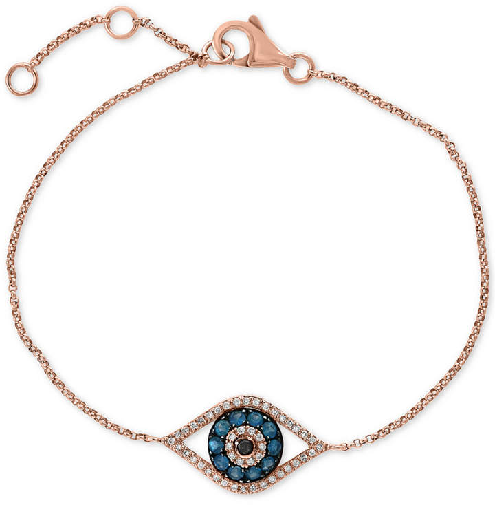 Effy Gift by Diamond Evil Eye Bracelet (1/3 ct. t.w.) in 14k Rose Gold