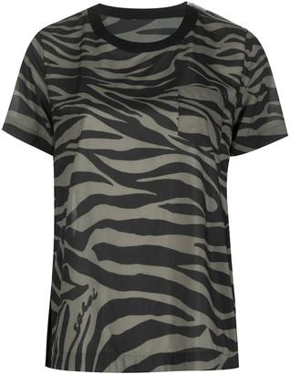 Sacai zebra print T-shirt
