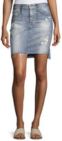 AG Adriano Goldschmied Erin Mid-Rise Denim Pencil Skirt, Indigo