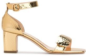 Rupert Sanderson Metallic Open-Toe Sandals