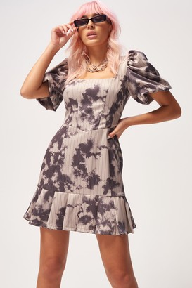 Jaded London Womens **Bleached Pinstripe Dress By Multi