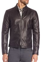 Armani Collezioni Leather Biker Jacket