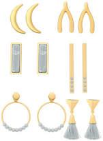 Guess Multi Value Rosegold Earrings Set