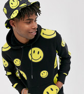 Chinatown Market Smiley All Over hooded sweat in black