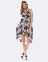Deshabille Palm Dress Black & White