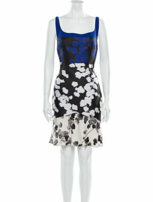 Narciso Rodriguez Floral Print Mini Dress Black