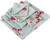 Cath Kidston Antique Rose Bouquet Towel - Blue - Wash Mitt
