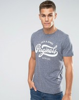 Jack & Jones Melange T-shirt With Retro Print