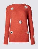 Marks and Spencer Daisy Crew Neck Jumper