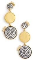 Freida Rothman Women's Baroque Blues Linear Earrings