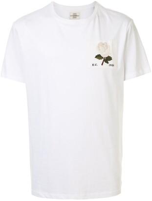 Kent & Curwen flower-patch crew-neck T-shirt
