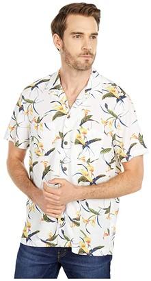 J.Crew Short Sleeve Printed Rayon Faille Camp Collar (Tropical Tulip Multicolors) Men's Clothing