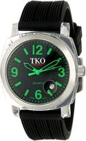 TKO ORLOGI Women's TK549-GB Unisex Milano Remixed Black Strap Watch