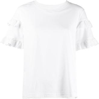 McQ Swallow ruffled sleeve T-shirt