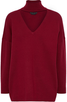 Alice + Olivia Alcott Cutout Knitted Sweater