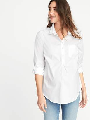 Old Navy Maternity Classic White Popover Shirt