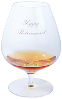 Dartington Crystal Personalised Origin Brandy Glass (Single), Palace Script Font