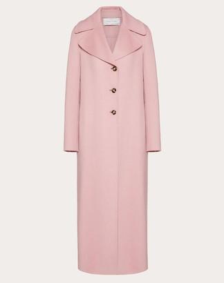 Valentino Double Cashmere Coat Women Pink Cashmere 100% 36