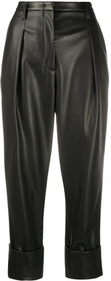 Dorothee Schumacher Faux Leather Cropped Trousers