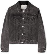 ADAM by Adam Lippes Faux Pearl-embellished Stretch-denim Jacket - Charcoal