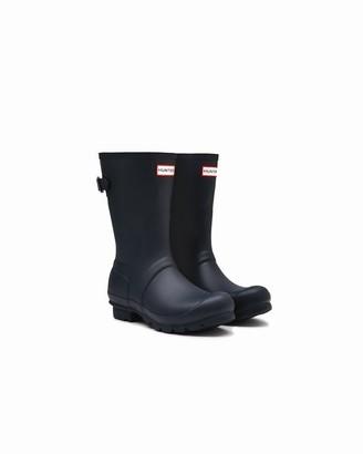Hunter Women's Short Adjustable Rain Boot Navy - Size 10
